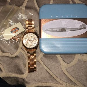 Fossil Accessories - Fossil rose gold watch